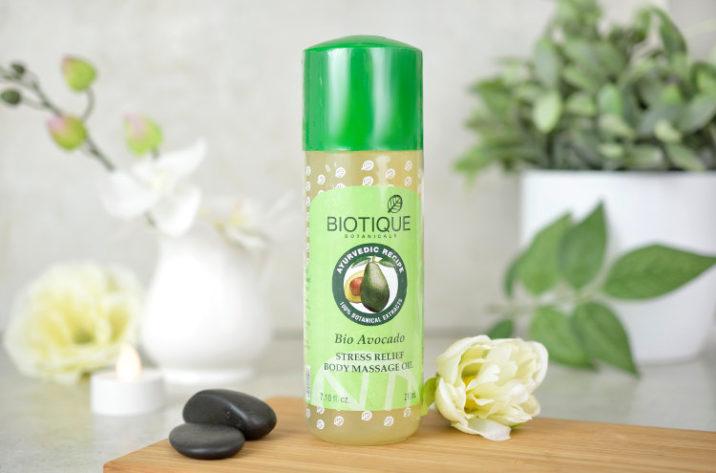 Antystresowy olejek do masażu z organicznym awokado