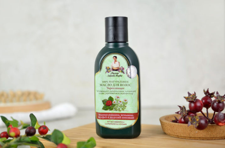 Wzmacniający olejek do włosów z łopianem, rumiankiem i żeń szeniem