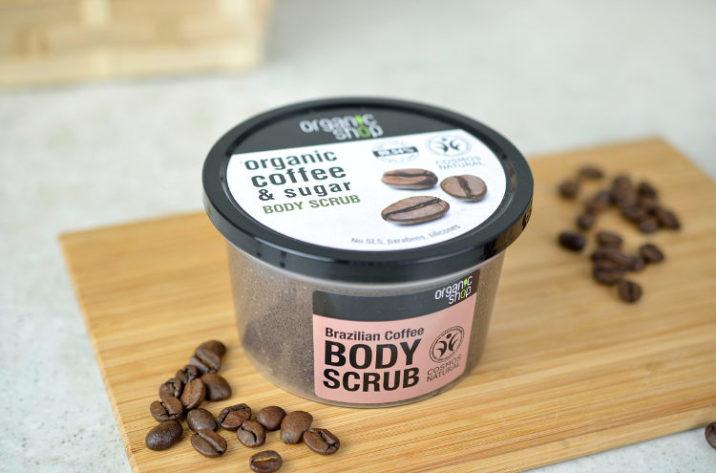 Peeling do ciała z organicznym olejkiem z kawy i cukrem