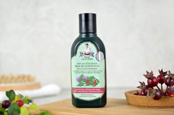Regenerujący olejek do włosów z łopianem, cedrem i porzeczką