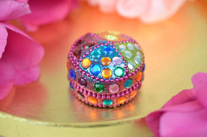 Indyjskie pudełko na pierścionek