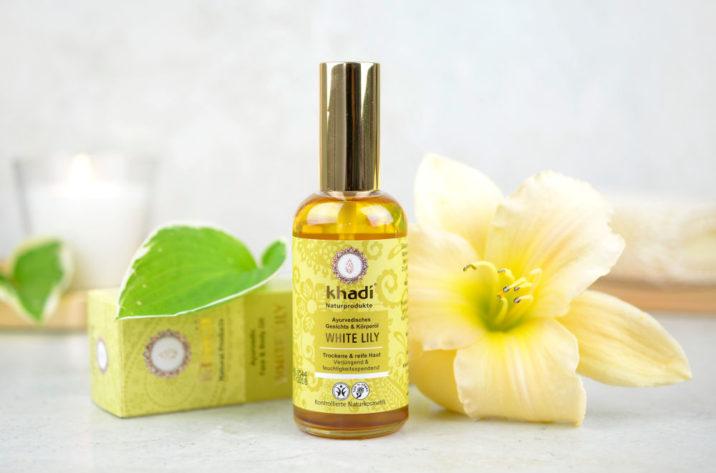 Khadi Ajurwedyjski olejek do twarzy i ciała z białą lilią