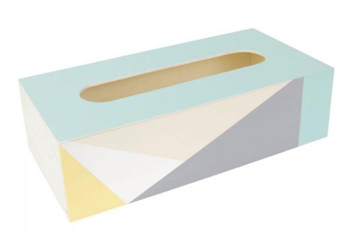 Drewniane pudełko na chusteczki higieniczne
