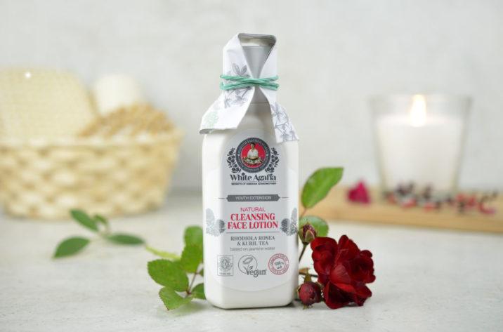RBA WHITE AGAFIA przedłużenie młodości - naturalny lotion oczyszczający do twarzy 35-50 lat- różeniec górski, jaśmin, pięciornik krzewiasty, witamina E