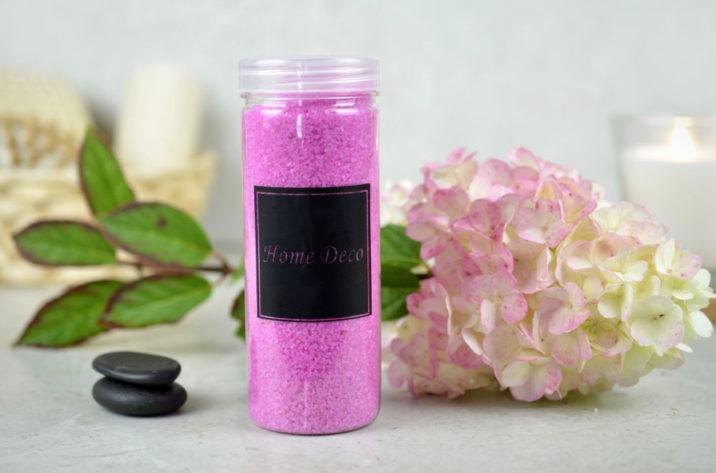 Piasek dekoracyjny - różowy