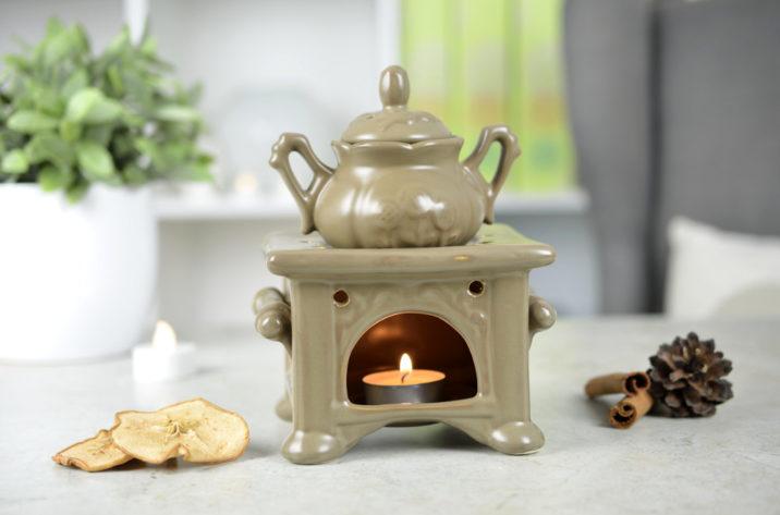 Kominek do aromaterapii Rustykalny – brązowy