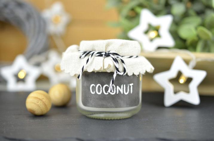 Świeczka zapachowa w słoiku – kokos