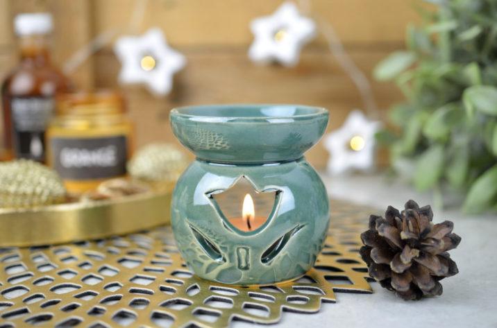 Kominek zapachowy Country Flower – turkusowy