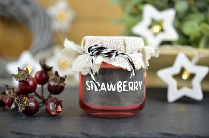 Świeczka zapachowa w słoiku - truskawka