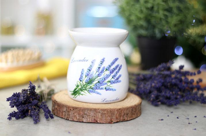 Kominek do aromaterapii - lawendowy I