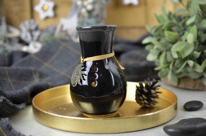 Kominek zapachowy z medalionem - czarny
