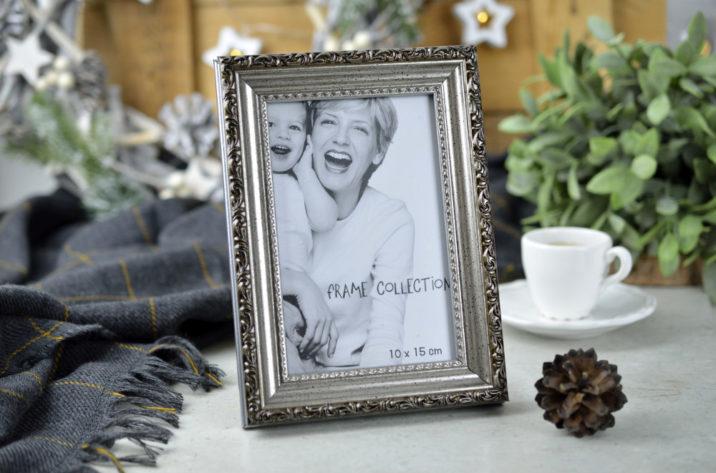 Ramka na zdjęcie w stylu vintage - kolor srebrny