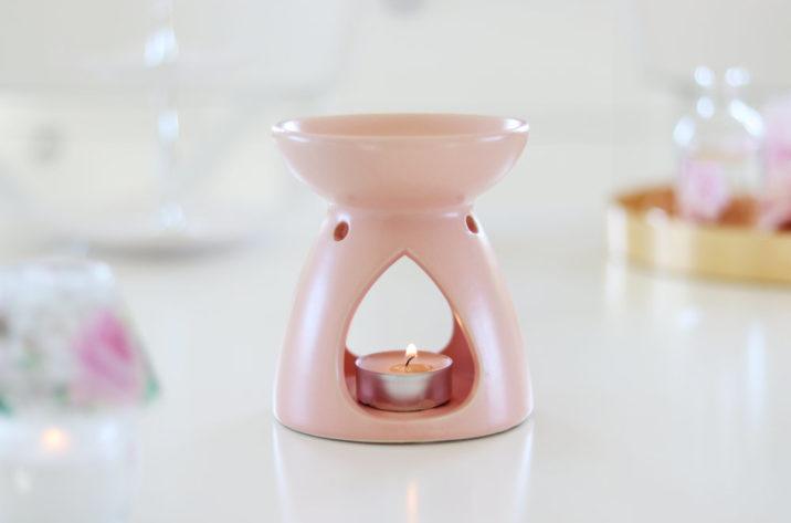 Kominek na woski i olejki Simple Style - pudrowy róż