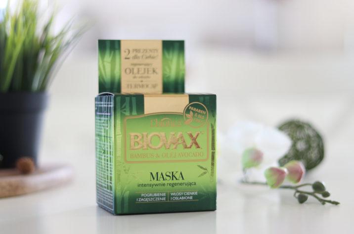 Regenerująca maseczka do włosów cienkich z bambusem i awokado