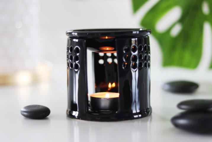 Kominek aromaterapeutyczny Azja - czarny