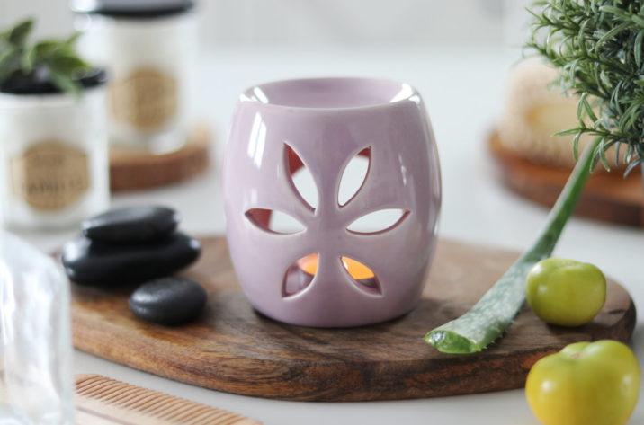Kominek do aromaterapii Spring - pudrowy róż