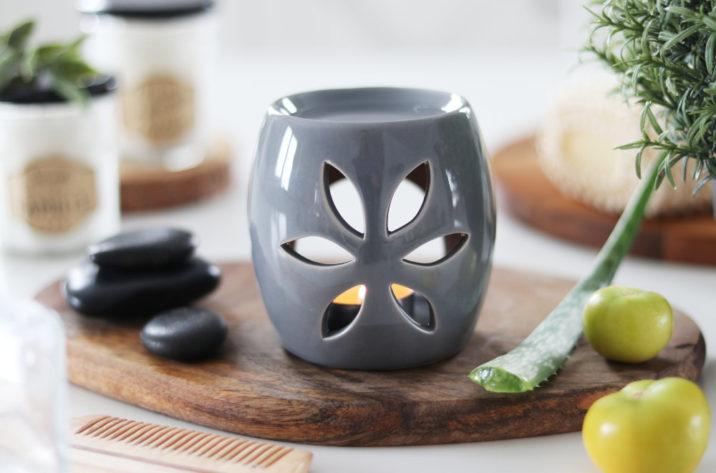 Kominek do aromaterapii Spring - szary