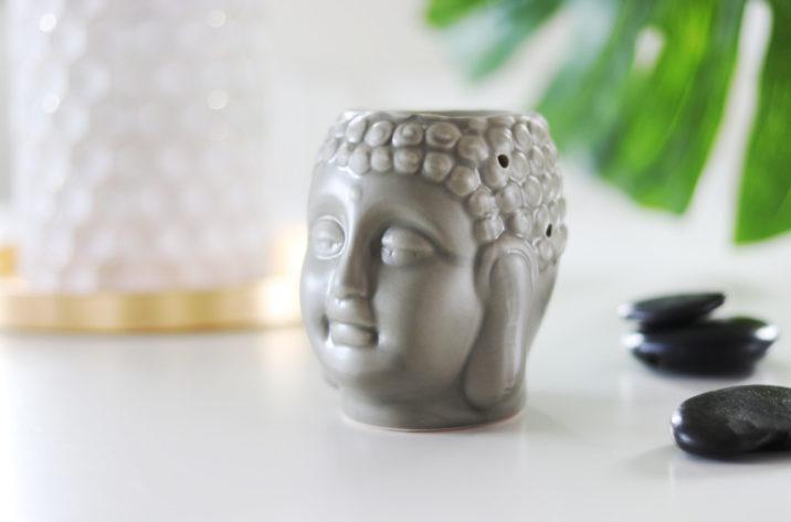 Kominek zapachowy Budda – ciemnoszary