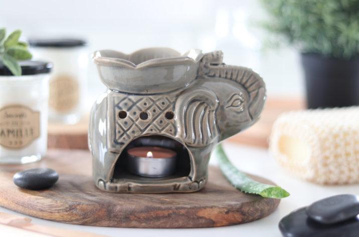 Kominek zapachowy Szczęśliwy Słoń - brązowy