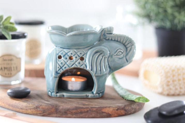 Kominek zapachowy Szczęśliwy Słoń – niebieski