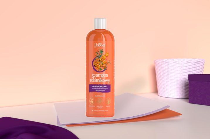 Regenerujący szampon rokitnikowy - do włosów farbowanych i zniszczonych