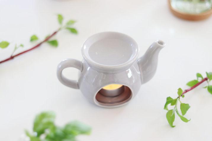 Kominek do aromaterapii Czajniczek – szary
