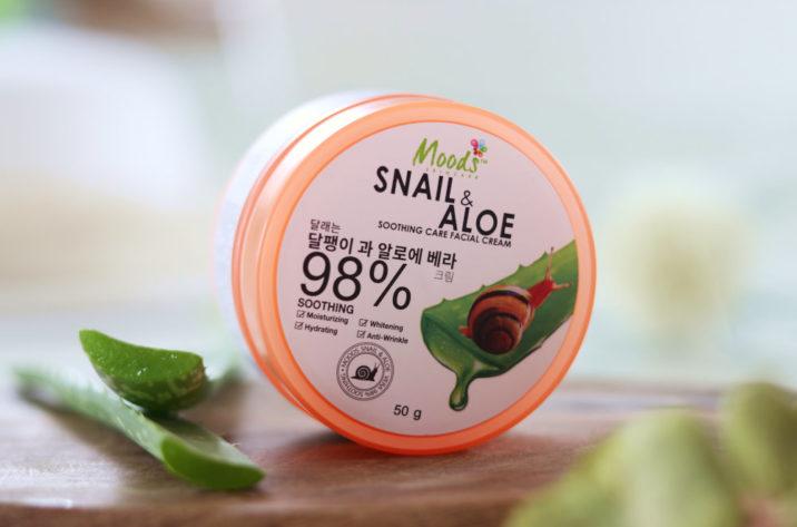 Krem na noc - 98% aloes i ekstrakt ze śluzu ślimaka