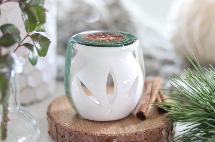 Kominek do aromaterapii z woskiem zapachowym – sosna