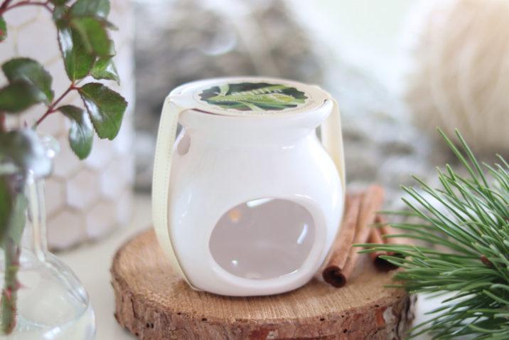 Kominek do aromaterapii z woskiem zapachowym – wanilia