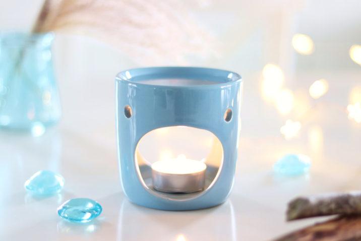 Kominek do aromaterapii Deco – niebieski