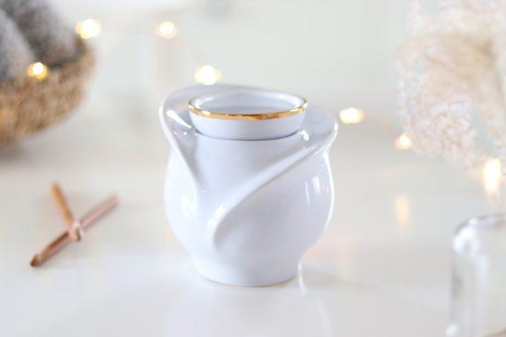 Kominek zapachowy Gold 24k – biały