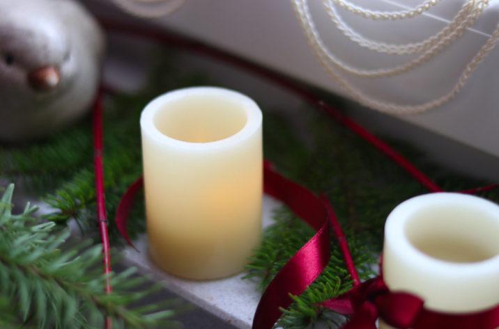 Świeca woskowa LED - migocząca