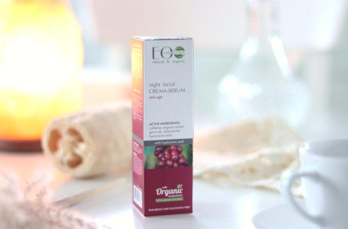 Krem-serum do twarzy odmładzający na noc - z kofeiną i kwasem hialuronowym