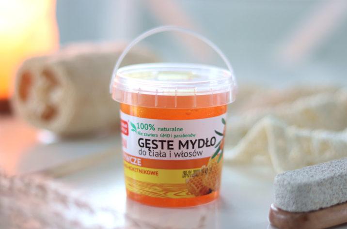 Miodowo-rokitnikowe gęste mydło dla włosów i ciała