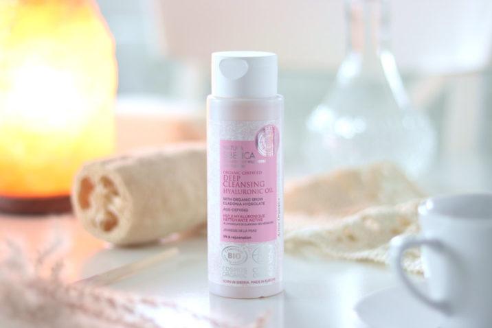 Organiczny, certyfikowany olejek oczyszczający do twarzy - hialuronowy