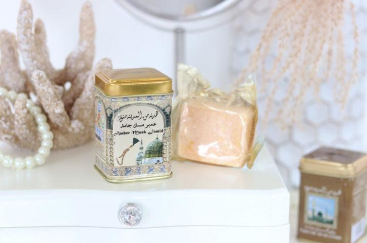 Perfumy arabskie w kostce ambra, piżmo, jaśmin