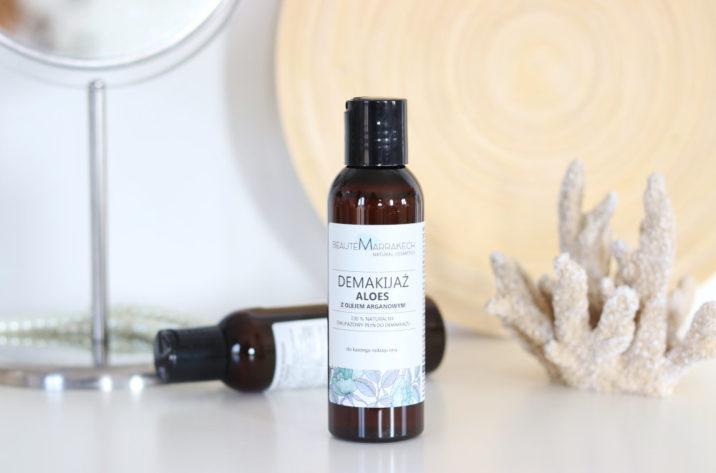 Naturalny, dwufazowy płyn do demakijażu - aloes i olej arganowy