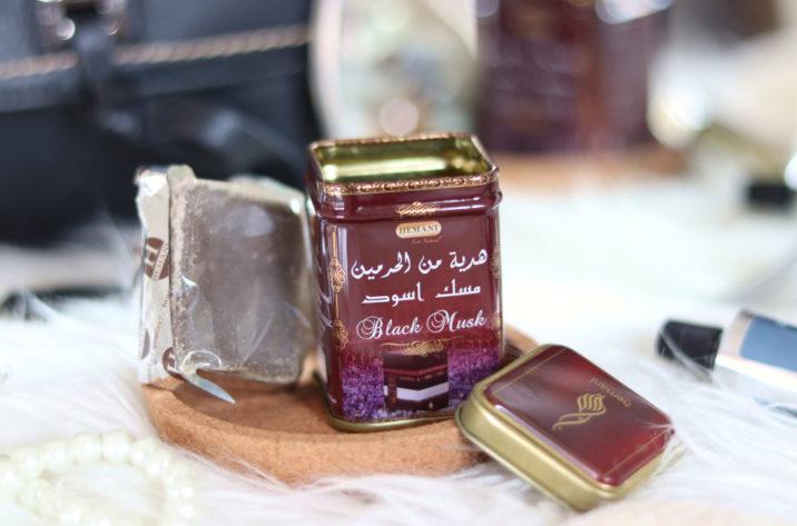 Perfumy arabskie w kostce - czarne piżmo