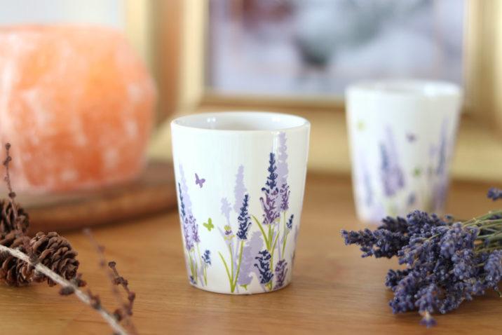 Świeczka lawendowa w ceramice