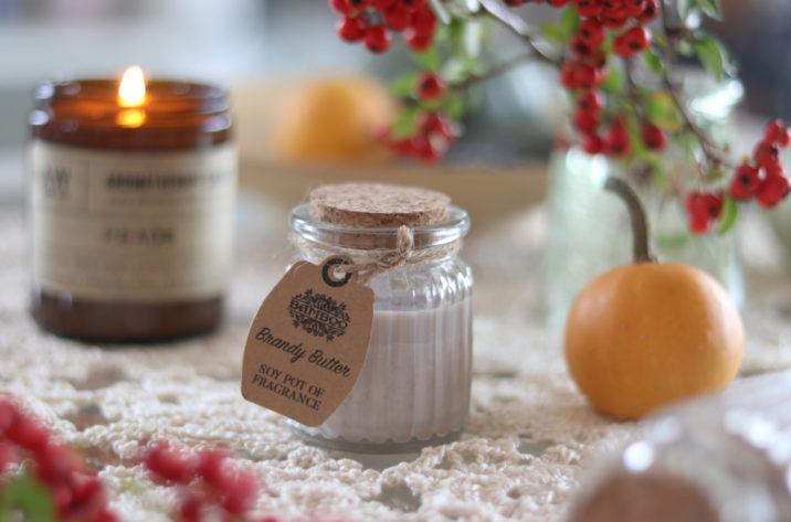 Zapachowa świeczka sojowa w szklanym słoiczku - Brandy Butter