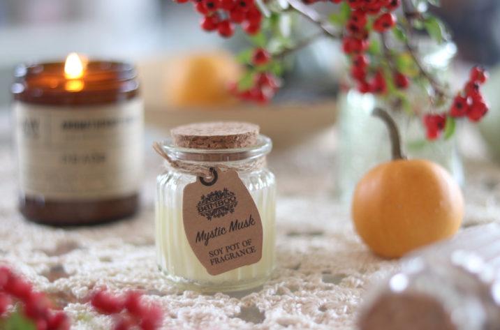 Zapachowa świeczka sojowa w szklanym słoiczku – Mistyczne Piżmo