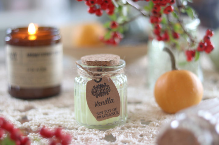 Zapachowa świeczka sojowa w szklanym słoiczku – Wanilia